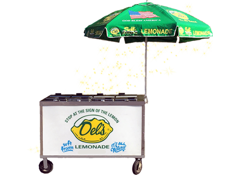 Rent A Del's Frozen Lemonade Push Cart